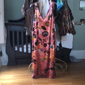 Unique Bohemian Velvet Floral Dress
